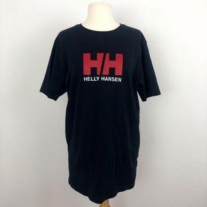 Helly Hansen Black Red Logo T Shirt Size Large